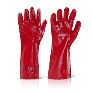 Beeswift BS056 Red PVC Gauntlets 16 Inch