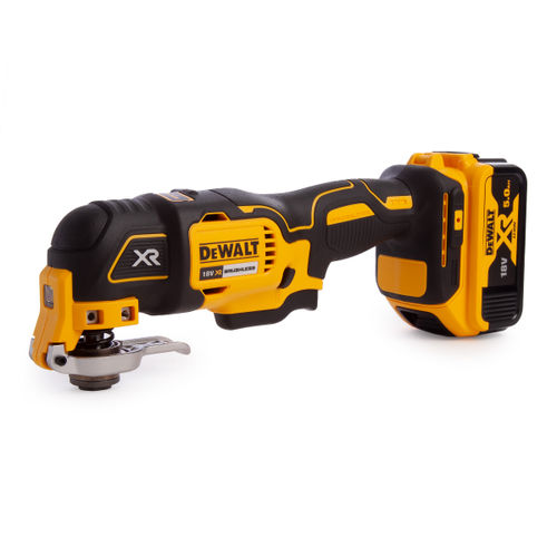 Dewalt DCS355P1 18V Brushless Oscillating Multi-Tool With Accessories (1 x 5.0Ah Battery)