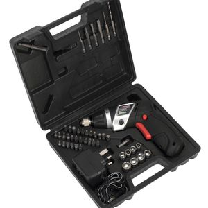 Sealey CP36S Cordless Lithium-ion Screwdriver Set 46pc 3.6v