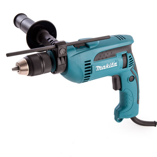 Makita HP1641K 13mm 680W Percussion Drill c/w Keyless Chuck & Carrying Case 110V