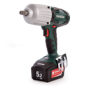 Metabo SSW18LTX 600 Impact Wrench 18V Cordless Li-ion, Charger (2 x 5.2Ah Batteries)