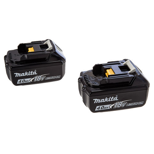 Makita BL1840 4Ah Batteries Twin Pack for 18V Lithium Ion Power Tools