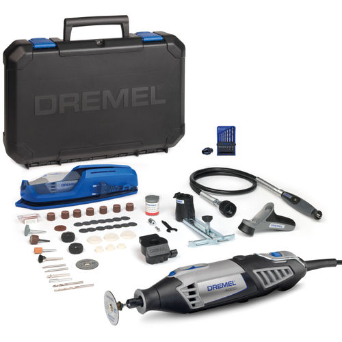 Dremel F0134000LU 4000 High Performance Multitool with 4 Attachments, 65 Accessories + 7 Piece Drill Set and Chuck