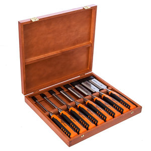 Bahco 424P-S8-EUR Bevel Edge Chisel Set 8 Piece in Wooden Box
