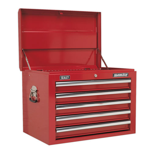 Sealey AP26059T Topchest 5 Drawer With Ball Bearing Runners - Red