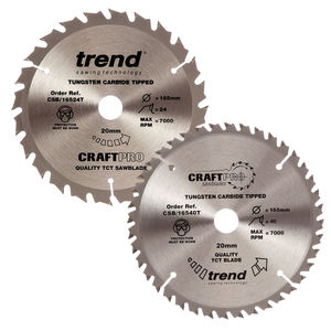 Trend 165mm Sawblade Twin Pack 24T and 40T