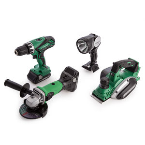 Hitachi 18V Cordless 4 Piece Kit with Small Bag (2 x 3.0Ah Batteries)
