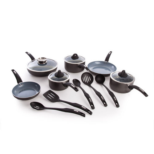 Tower IDT80035 7PC Aluminium Pan Set Graphite