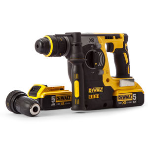 Dewalt DCH274P2 18V XR li-ion SDS+ Rotary Hammer Drill with Quick Change Chuck (2 x 5AH Batteries)