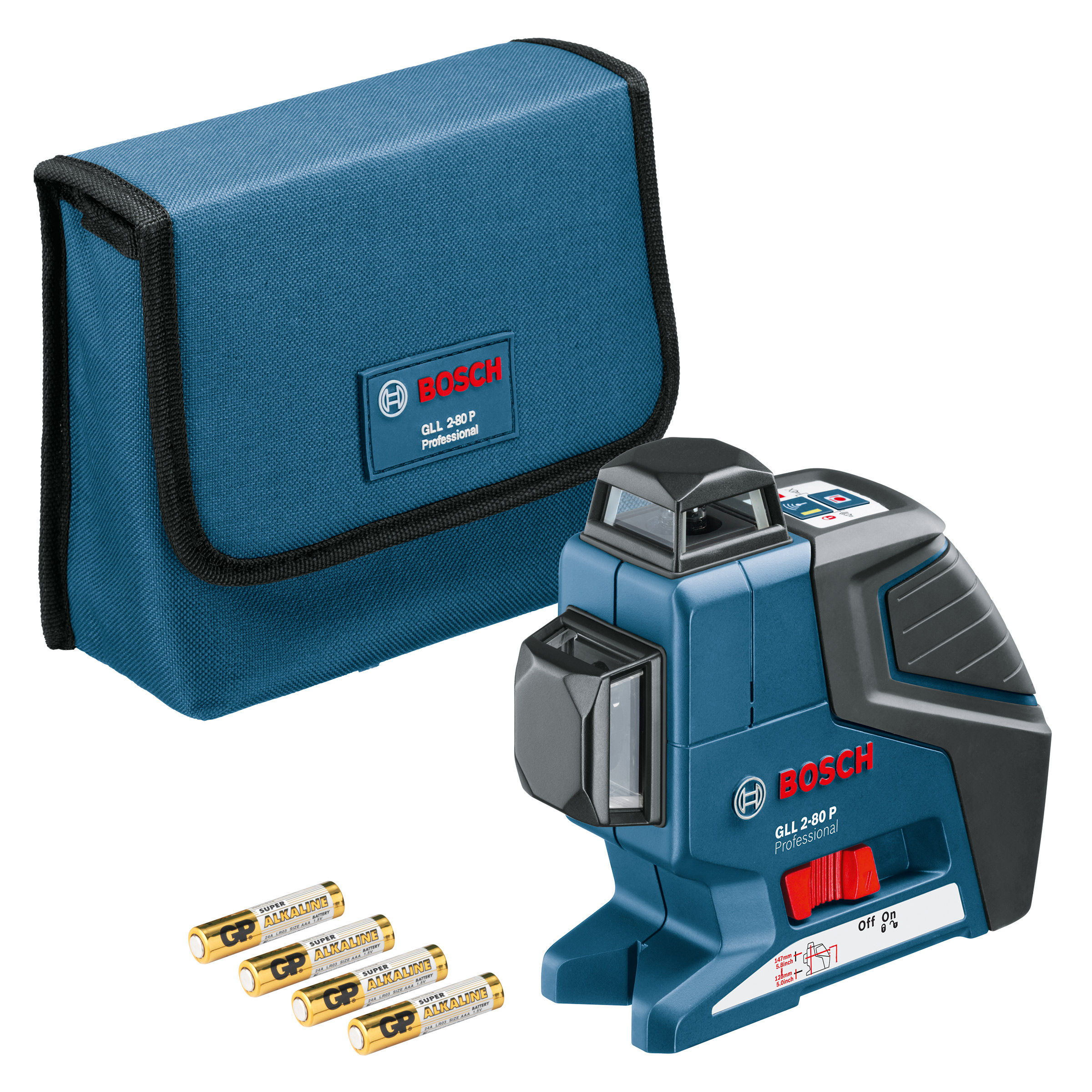 Toolstop Bosch Gll2 80p 360 Degree Vertical And Horizontal Line Gll 3 15 Laser Level Mini