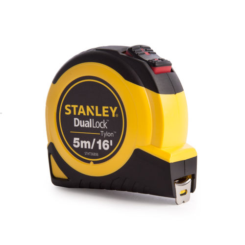 "Stanley STHT36806-0 Tylon Dual Lock Tape Measure 5M/16"""