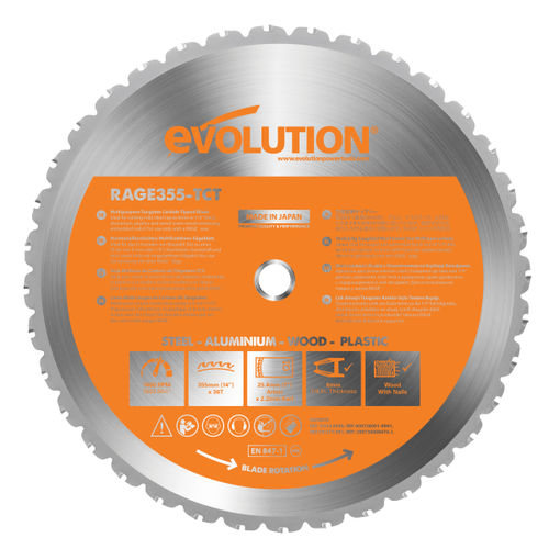 Evolution B355 Rage 2 Cutting TCT Blade 355mm