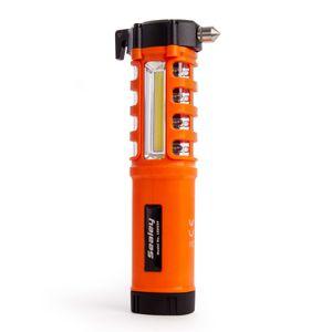 Sealey LED059 Emergency Torch/Belt Cutter/Hammer - 2W COB + 16 Red LED + 1W LED