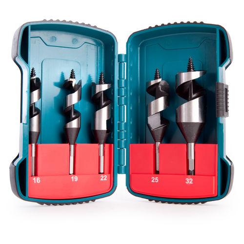 Makita P-67686 Hexagon DIN 120mm Standard Stubby Auger Set 5 Piece