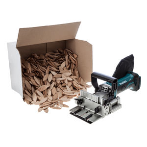 Makita DPJ180Z 18V Cordless li-ion Biscuit Jointer (Body Only) + 1000 Biscuits