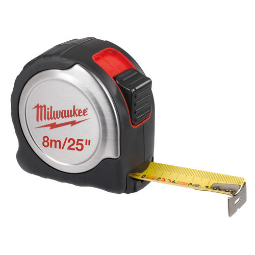 Milwaukee 4932451642 Silver Tape Measure (8m/25ft) Metric/Imperial 25mm Blade Width