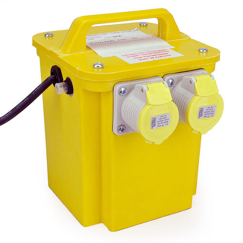 3KVA Twin Outlet 16 Amp Site Transformer 240V - 110V