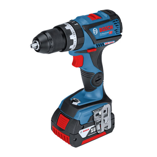 Bosch GSB 18V-60 C Professional Dynamic Series Heavy Duty Combi Drill (2 x 5.0Ah Coolpack & 1 x 4.0Ah ProCORE Batteries)