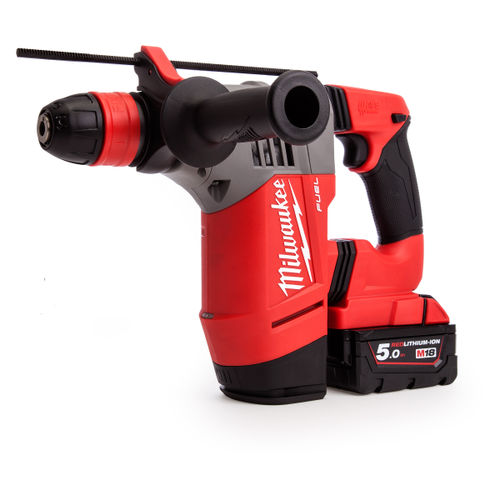 Milwaukee M18CHPX-502X 18V Brushless SDS Plus Rotary Hammer (2 x 5.0Ah Batteries)