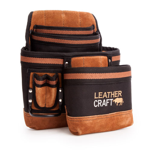 Leather Craft LC207 Single Pouch with 4 Large Pockets