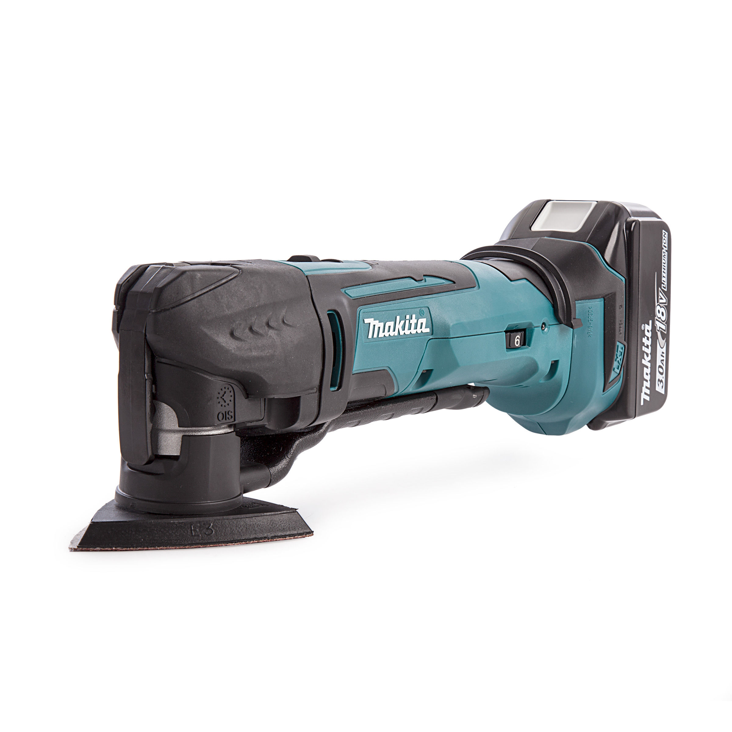 toolstop makita dtm51 18v multi-tool with dc18rc charger in makpac