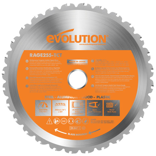 Evolution B255 TCT Sawblade 255mm x 28T