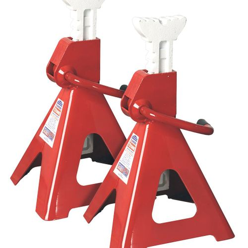 Sealey VS2012 Axle Stands 12tonne Capacity Per Stand 24tonne Per Pair Ratchet Type