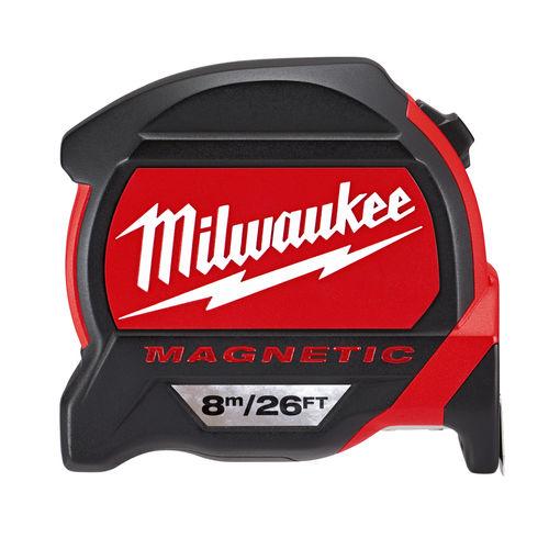 Milwaukee 48227225 Premium Magnetic Tape Measure (8m/26ft) Metric/Imperial