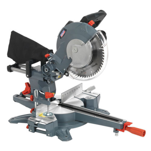 Sealey SMS255 Double Sliding Compound Mitre Saw 250mm 240V