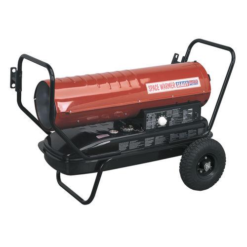 Sealey AB1008 Space Warmer Paraffin, Kerosene & Diesel Heater 100,000btu/hr With Wheels
