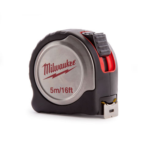 Milwaukee 4932451641 Metric/Imperial Silver Tape Measure with 25mm Blade 5m / 16ft