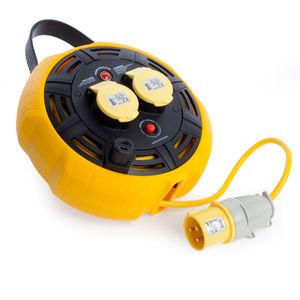 Defender E86530 Light Industrial Cable Reel 15 Metres - 16A 2 Way 1.5mm 110V