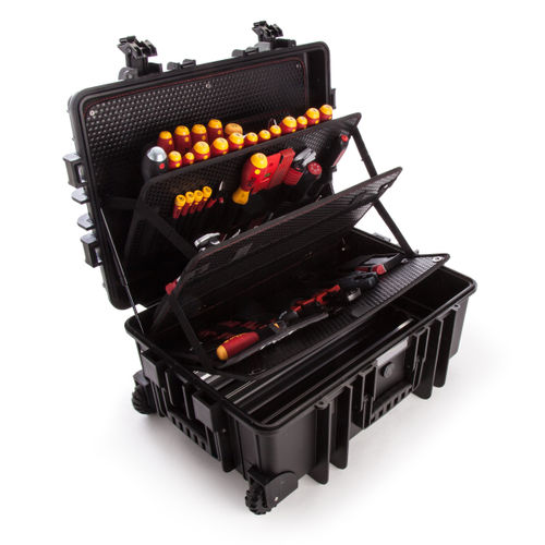 Wiha 40524 Tool Case for Electricians - Competence XXL Kit with 115 Pieces
