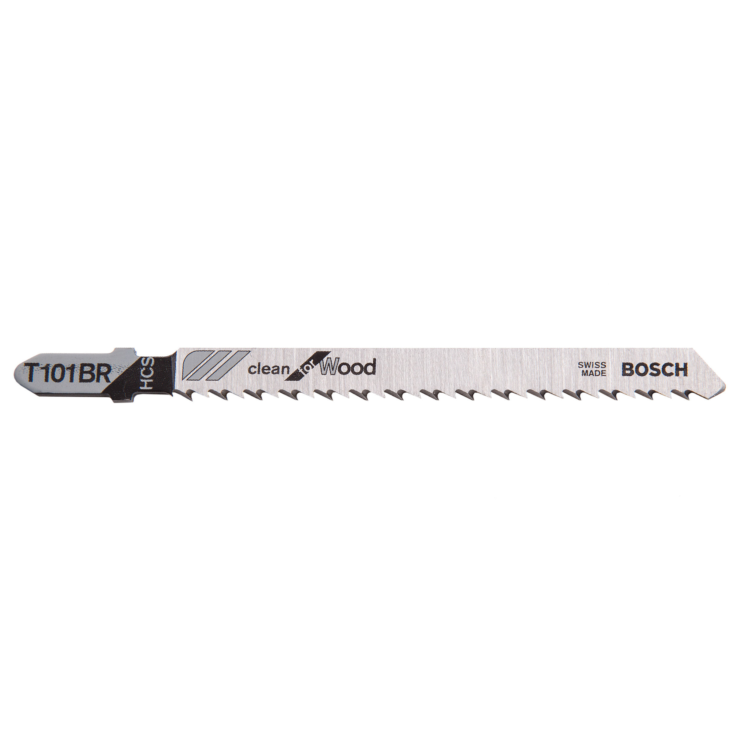 Bosch T101BR Jigsaw Blades HCS Clean for Wood (5 Pack)