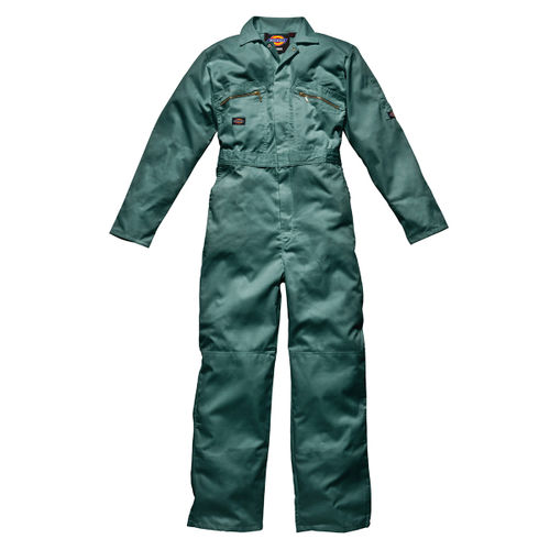 "Dickies WD4839 Front Zip Redhawk Coverall - Lincoln Green 44"" Long"