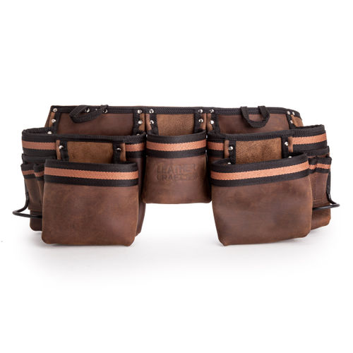 Leather Craft LC401 Double Tool Belt with 5 Large Pockets