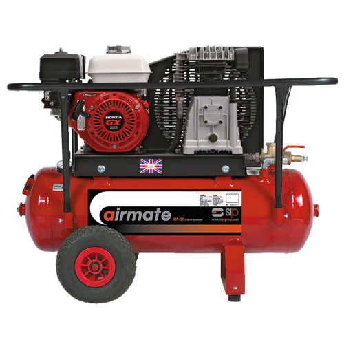 SIP 04444 SHP5.5/50 50 Litre Airmate Industrial Compressor Super Petrol with Honda Engine