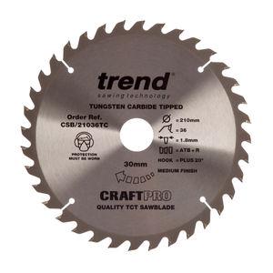 Trend CSB/21036TC CraftPro Saw Blade 210mm x 36 Teeth x 30mm