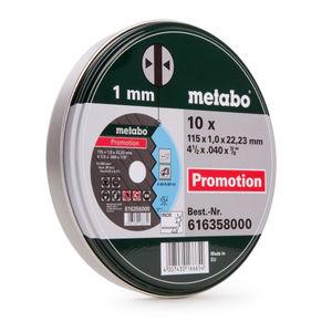 Metabo 616358000 Inox Cutting Discs in Tin 115mm x1mm x 22.23mm 10 Piece