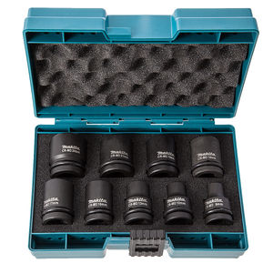 Makita D-41517 Impact Socket Set 1/2 Inch Drive 9 Piece