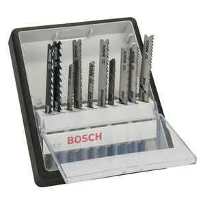 Bosch 2607010542 Robust Line Wood and Metal Jigsaw Blade Set - Single Lug Shank (10 Piece)