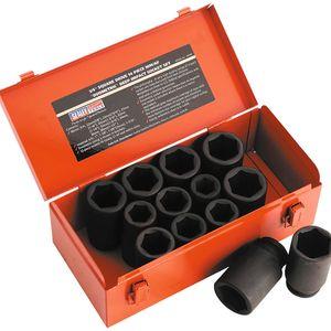 "Sealey AK687 Impact Socket Set 13pc Deep 3/4""sq Drive Metric/imperial"