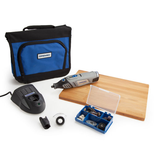 Dremel 8100-2/45 Cordless Multi-Tool Outdoor Project Kit (45 Accessories + 2 Attachments)