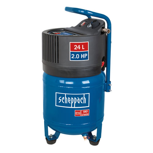 Scheppach HC24V Vertical Air Compressor Oil Free 24 Litre 10 Bar 2.0HP