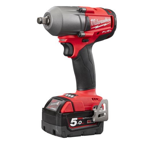 Milwaukee M18FMTIWF12-503X M18 FUEL 1/2 Inch Mid Torque Impact Wrench (3 x 5.0Ah Batteries)