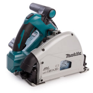 Makita DSP600 Twin 18V Plunge Saw with DC18RC Charger in Makpac Case (2 x 3.0Ah Batteries)