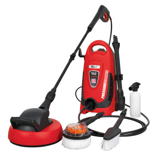 Sealey PW1600 Pressure Washer 110bar With Tss & Rotablast Nozzle 240v With Accessory Kit