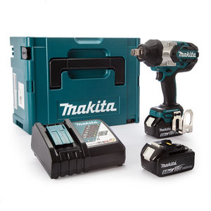 Makita DTW1001RTJ Impact Wrench 18V Brushless LXT Li-ion 3/4 Inch Square Drive (2 x 5.0Ah Batteries)
