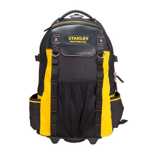Stanley 1-79-215 FatMax Backpack Toolbag on Wheels with Telescopic Handle and Laptop Compartment
