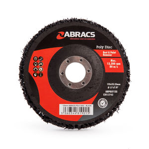 Abracs ABPOLY125 Poly Disc for Rust and Paint Removal Black 125mm